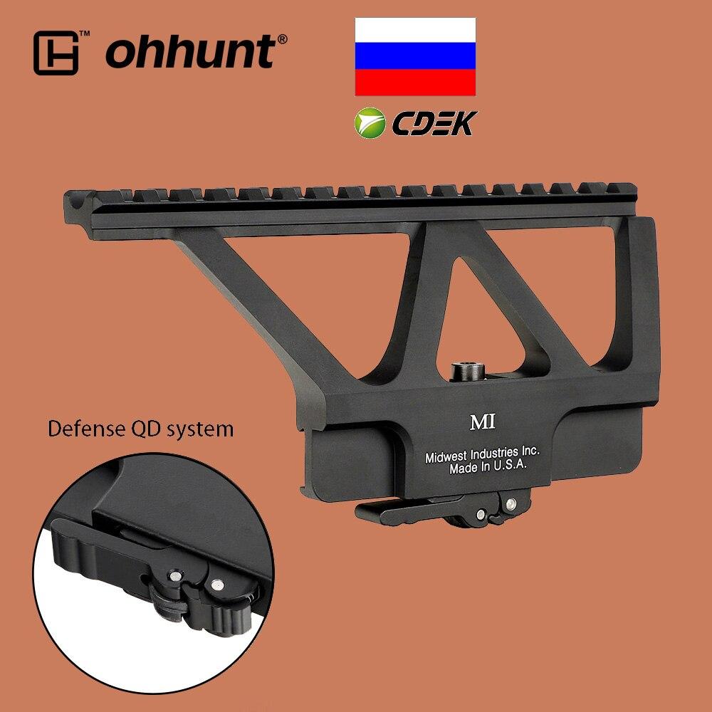 ohhunt Tactical Elite Defense Quick Detach System QD Scope Mount Weaver Picatinny AK74 AK47 Side Rail Base Hunting Riflescope